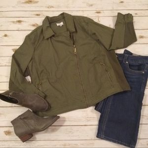 Oso Casul Army Grn Motorcycle Asymmetrical Jacket